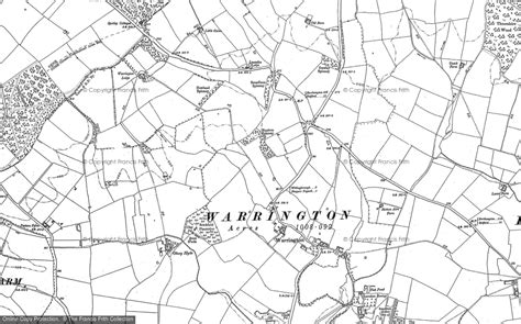 map of warrington maps of warrington francis frith