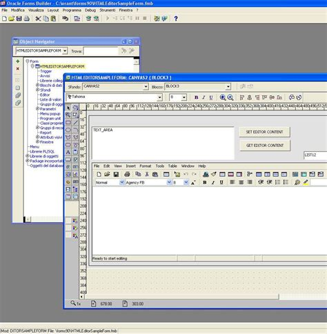 layout editor in oracle forms oracle forms html editor and rich text editor