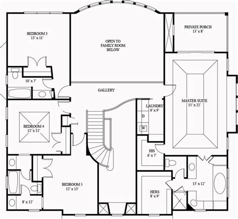 square house floor plans 3073 square 4 bedrooms 4 batrooms 3 parking space