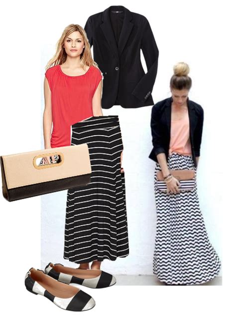 what top to wear with chevron maxi skirt four ways to