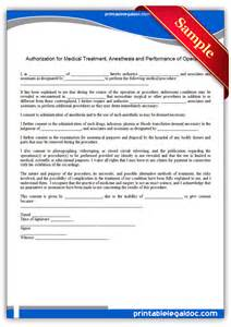 free printable authorization for medical treatment form