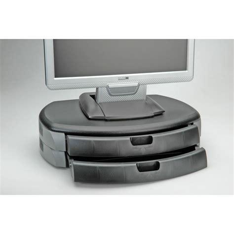 accessori per lade da tavolo rialzo per monitor o stante nero grigio itb solution