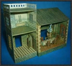 Diorama House by Old French Doll House Free Papercraft Diorama Download