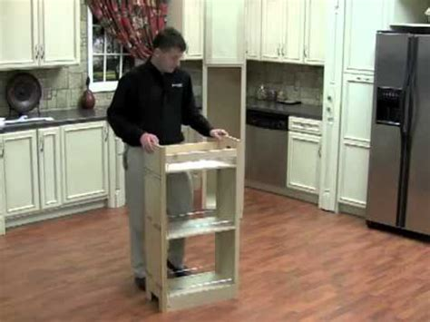How To Install Rev A Shelf by Installing The Rev A Shelf Pullout Wood Pantry