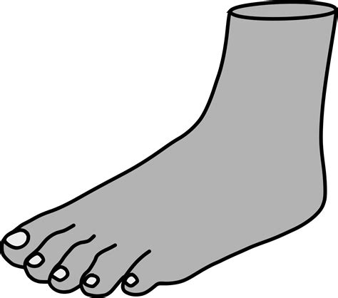 foot clip left foot clipart clipground