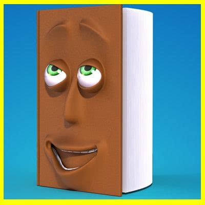 faces of books book 3d model