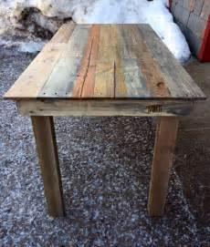 Recycled wood pallet kitchen table pallet furniture plans