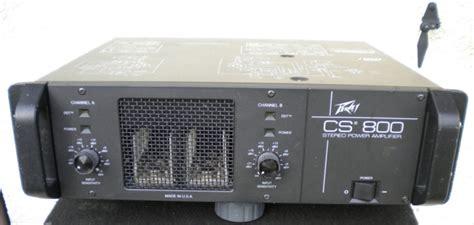 Power Lifier Peavey Cs 800 peavey cs 800 image 752416 audiofanzine