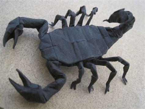 How To Make A Paper Scorpion - origami scorpion by timsorigami on deviantart