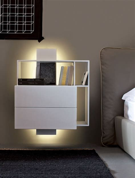wall mounted nightstand  drawer woodworking projects