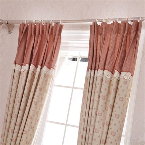 Poly And Cotton Blended Lace Teen Girl Curtains