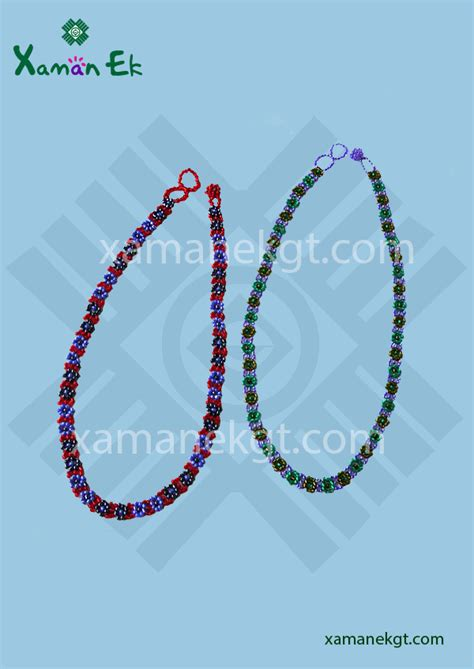 guatemalan beaded necklaces glass beaded necklace handmade in guatemala xaman ek
