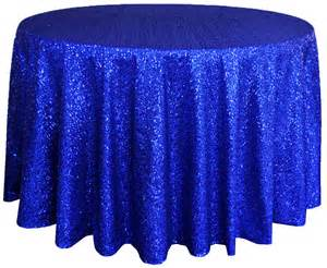 Royal blue sequin table cover linens 108 quot