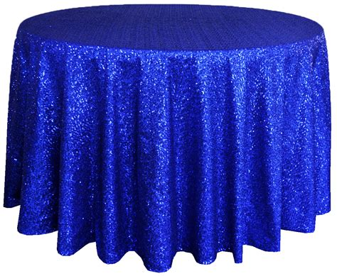 royal blue sequin table cover linens 108 quot
