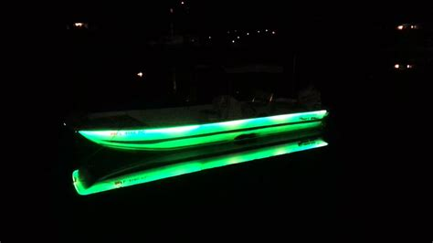 boat lights in water boat lights in the water youtube