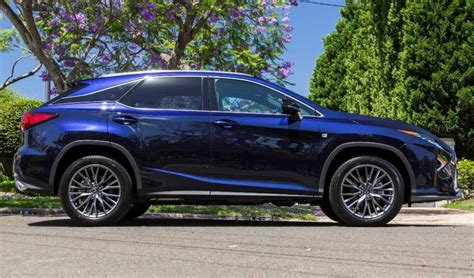 2017 Lexus Rx Blue Color Right Side View Cool Cars