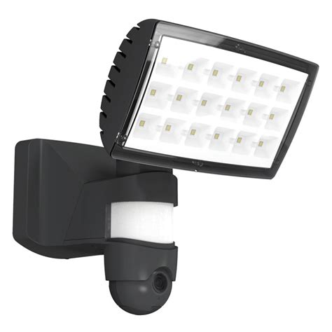 outdoor wifi led lights lutec 25w led floodlight with pir sensor and wi fi