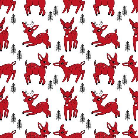 pattern for fabric reindeer reindeer christmas deer pattern red fabric andrea lauren