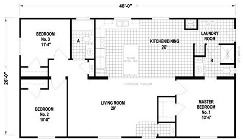 28x48 floor plans carlton 28 x 48 1248 sqft mobile home factory expo home