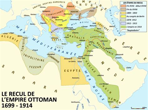 Fin Empire Ottoman by La Carte De L Empire Ottoman My
