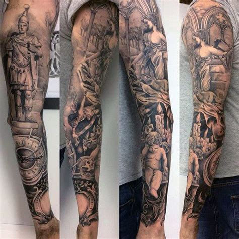 roman cross tattoo 75 religious sleeve tattoos for spirit