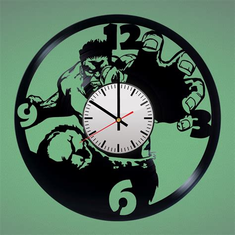 Wall Clock Handmade - handmade vinyl record wall clock fan gift vinyl clocks