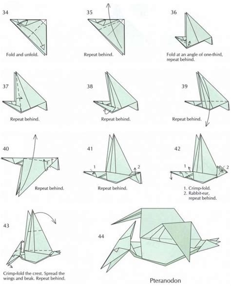 Origami Pterodactyl - origami pteranodon magic tree house ideas