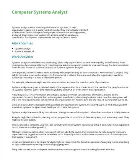 system analyst description 10 system analyst description templates pdf doc