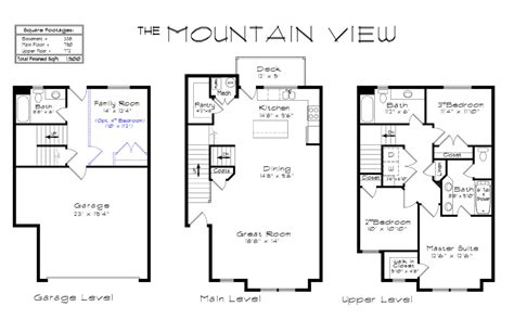 mountain view floor plans draper creekside mountain view floorplan