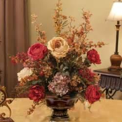 home floral decor burgundy gold silk arrangement ar217 155 silk flowers