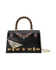Promo Bag Gucci D3312 gucci ottilia large embellished elaphe paneled printed leather tote black pattern modesens