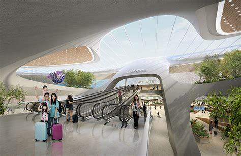unstudio unveils proposed terminal design  taiwan airport