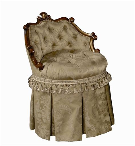 vanity stool with skirt classic and regal vanity chair with skirt