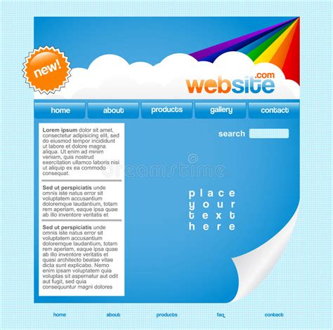 Rainbow Website Template Royalty Free Stock Image Image 13731486 Copyright Free Website Templates