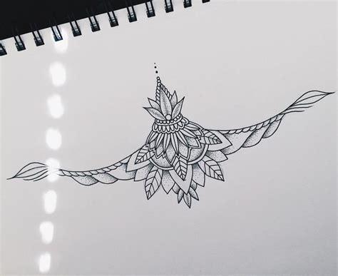 sternum tattoo mandala meaning sternum piece pinteres
