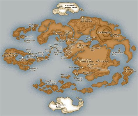 map   avatar world avatar   airbender