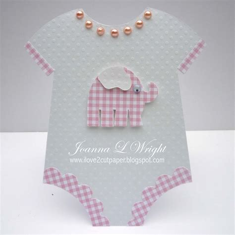 baby card template onesie cut out templates template cutting file