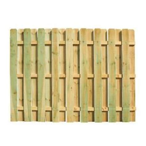 6 ft x 8 ft pressure treated ear shadowbox fence