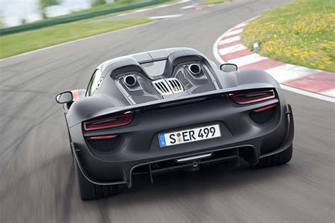 electric porsche supercar porsche 918 spyder plug in hybrid supercar electric cars