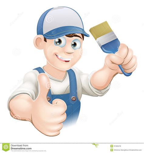 Painter And Decorator In by Painter Decorator Royalty Free Stock Images