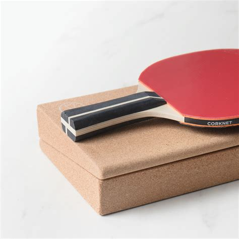 portable table tennis set this portable table tennis set uses cork wedges as its