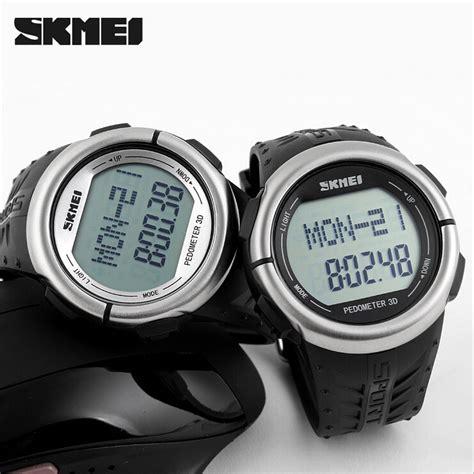 skmei jam tangan olahraga pedometer rate dg1058hr