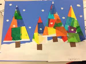 tissue paper christmas trees crafts pinterest