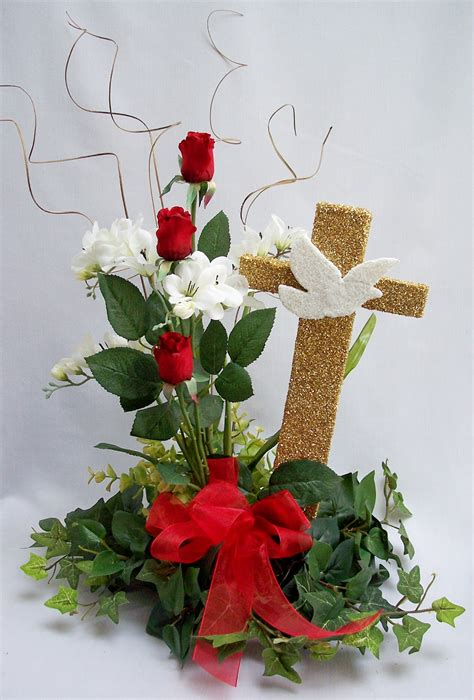 confirmation dove centerpiece easter spring decor