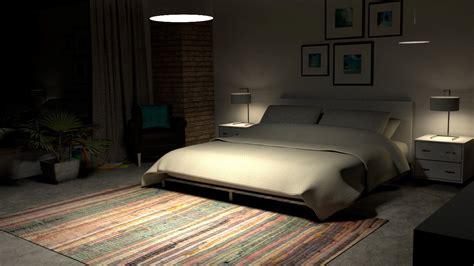cinema   model interior bedroom scene  arnold