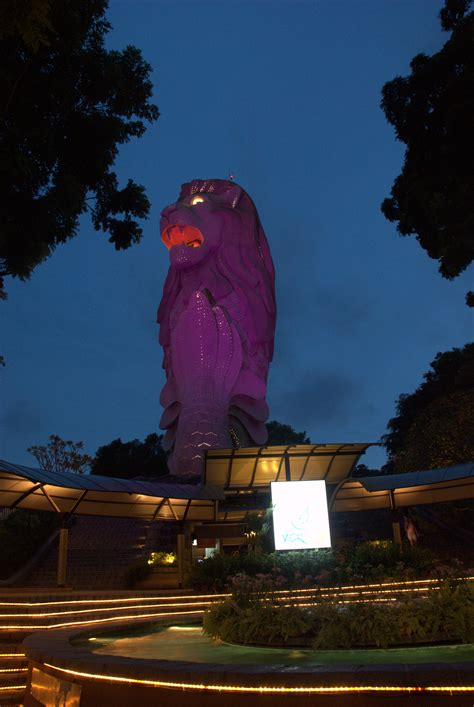 merlion park singapore map facts location  time