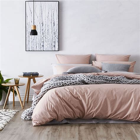 Blush Pink Comforter Home Republic Stonewashed Cotton Quilt Cover Dusty Pink