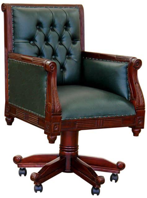 chaise de bureau anglais fauteuil de bureau anglais chesterfield vert meubles de