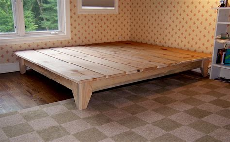 Handmade Bed Frame Plans - manifold custom furniture platform bed wood