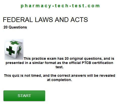 federal laws and acts quiz pharmacy